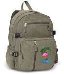 Flamingo Canvas Backpack Olive