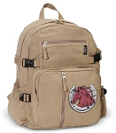 Horse Canvas Backpack Tan