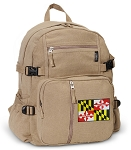 Maryland Canvas Backpack Tan