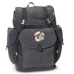 Baseball LARGE Canvas Backpack Black
