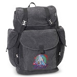 Field Hockey LARGE Canvas Backpack Black