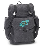 Christian LARGE Canvas Backpack Black