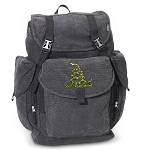 Don't Tread on Me LARGE Canvas Backpack Black