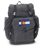 Colorado LARGE Canvas Backpack Black