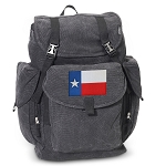 Texas Flag LARGE Canvas Backpack Black