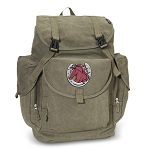 Horse LARGE Canvas Backpack Olive