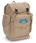 BLUE CRAB LARGE Canvas Backpack Tan