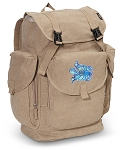 Turtle LARGE Canvas Backpack Tan