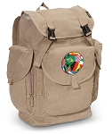 Soccer LARGE Canvas Backpack Tan