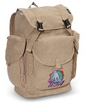 Field Hockey LARGE Canvas Backpack Tan