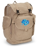 DOLPHIN LARGE Canvas Backpack Tan