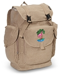 Flamingo LARGE Canvas Backpack Tan