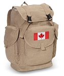 Canada LARGE Canvas Backpack Tan
