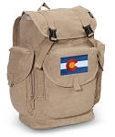 Colorado LARGE Canvas Backpack Tan