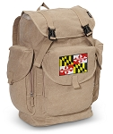 Maryland LARGE Canvas Backpack Tan