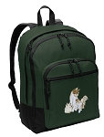 Cute Cats Backpack Green