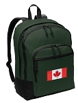 Canadian Flag Backpack Green