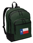 Texas Flag Backpack Green