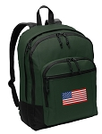 American Flag Backpack Green