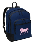Cute Horse Backpack Navy