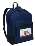 California Flag Backpack Navy