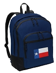 Texas Flag Backpack Navy