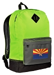 Arizona Flag Backpack Classic Style Fashion Green