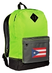 Puerto Rico Backpack Classic Style Fashion Green