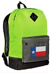 Texas Flag Backpack Classic Style Fashion Green