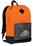 Crazy Cat Backpack Classic Style Cool Orange