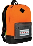 Chicago Flag Backpack Classic Style Cool Orange