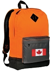 Canada Backpack Classic Style Cool Orange