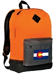 Colorado Backpack Classic Style Cool Orange