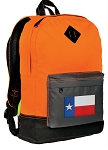 Texas Flag Backpack Classic Style Cool Orange
