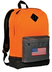 American Flag Backpack Classic Style Cool Orange