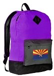 Arizona Flag Backpack Classic Style FASHION PURPLE