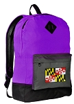 Maryland Flag Backpack CLASSIC STYLE Purple