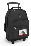 California Flag Rolling Backpacks Black