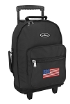 American Flag Rolling Backpacks Black