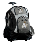 Cute Cats Rolling Backpack Black Gray