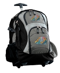 Crazy Cat Rolling Backpack Black Gray
