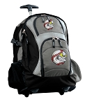 Baseball Rolling Backpack Black Gray