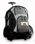 California Flag Rolling Backpack Black Gray