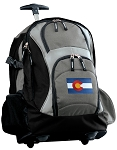 Colorado Rolling Backpack Black Gray