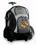 Maryland Rolling Backpack Black Gray