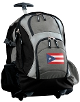 Puerto Rico Rolling Backpack Black Gray