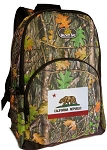 California Flag Backpack REAL CAMO DESIGN