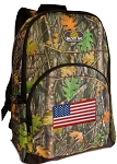 American Flag Backpack REAL CAMO DESIGN