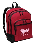 Cute Horse Backpack CLASSIC STYLE Red