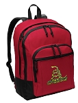 Don't Tread on Me Backpack CLASSIC STYLE Red
